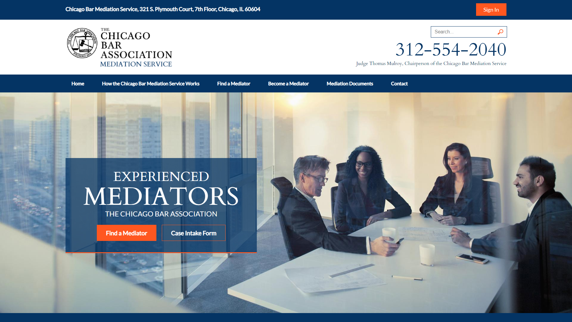 CBA Mediation Service Website